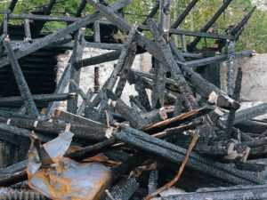 Снять сгоревший дом с учета
